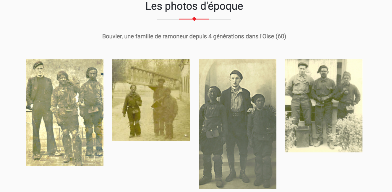 photo d'epoque famille Maison BOUVIER ramonage oise beauvais ramoneur